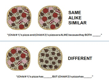 """""""My Pizza, Your Pizza"""" Similarities and Differences"""