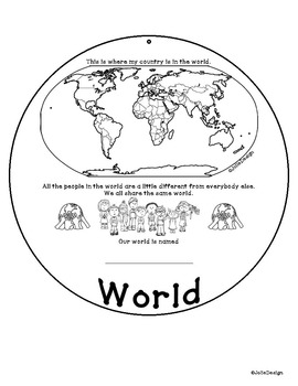 My Place In This World - PreK or K Geography Activity