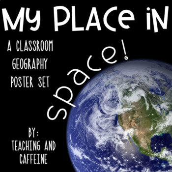 My Place in Space Geography Poster Set *INCLUDES ALL 50 STATES*