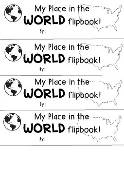 My Place in the World Flip Book