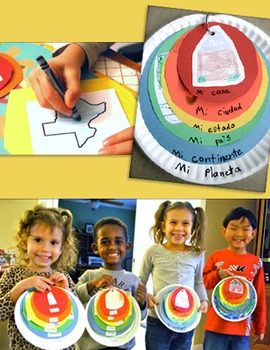 """My Place in the World Project: """"Me on the Map"""" Geography for Kids in Spanish"""