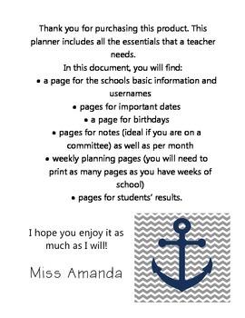 My Plan Book
