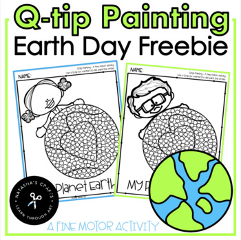 Earth Day Qtip Painting
