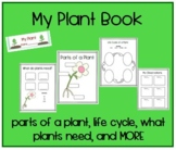 My Plant Book - parts, life cycle, what plants need, bag toppers * lifecycle