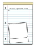 """Plant Journal, """"My Plant Experiment Journal"""""""