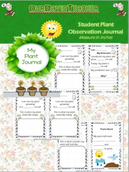 My Plant Journal Recorder & Reflection { cm & inch}