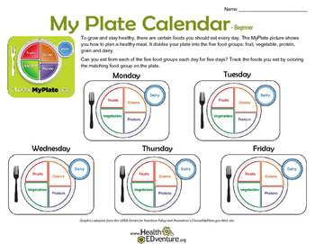 MyPlate Calendar: Tracking Healthy Eating