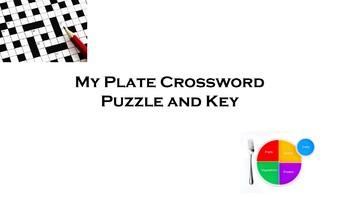 My Plate Crossword Puzzle