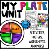 My Plate {Food Groups}- A Healthy Eating and Nutrition Unit Distance Learning