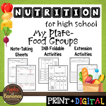 My Plate - Food Groups - Interactive Note-Taking Materials
