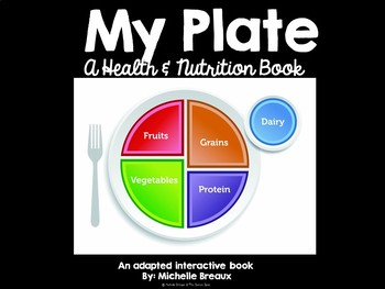 My Plate Nutrition and Food Groups Adapted Book (Autism, SPED)