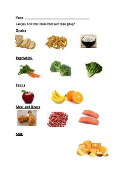 My Plate- food hunt worksheet