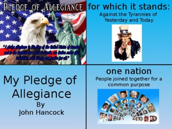My Pledge of Allegiance Foldable Activity