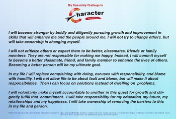 My Pledge For Personal Growth