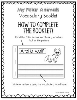 Polar Animals Vocabulary