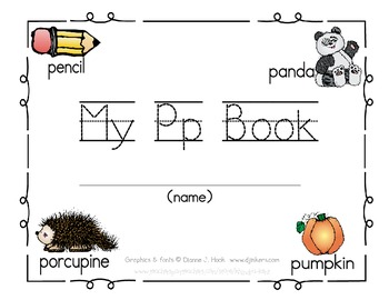My Pp Book {letter study / sight words you & I}