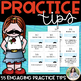 """Piano Practice Tips: """"My Practice 'Stache"""" Editable Cards & Storage Box Template"""