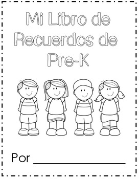 My Pre-K Memory Book in English & Spanish