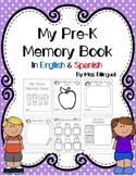 Back to School: My Pre-K Memory Book in English & Spanish