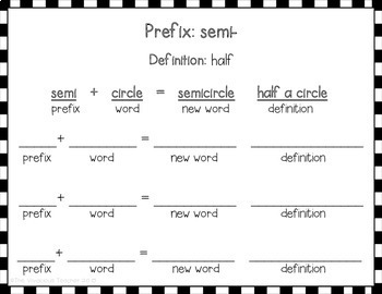 My Prefix Guide: I Can Use Prefixes to Understand the Meaning of New Words