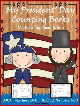 My Presidents' Day Counting Books (Numbers 0-10 & 11-20) 2 Books