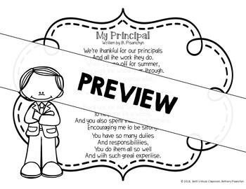 My Principal! Original Poem/Note for School Principals' Day