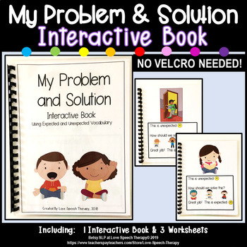 My Problem and Solution Book & Worksheets - NO VELCRO