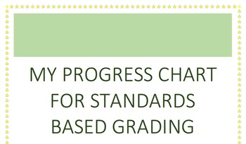 My Progress Chart for Standards Based Grading *Includes entire 8thgrade ELA CCSS