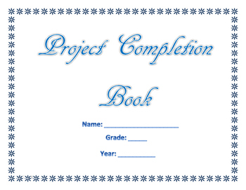 My Project Completion Book (Blue Words) (Secular)