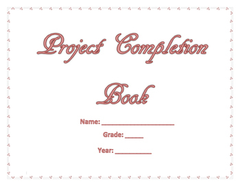 My Project Completion Book (Pink Words) (Religious)