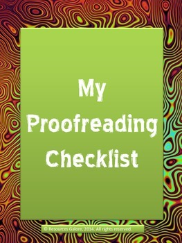 My Proofreading Checklist