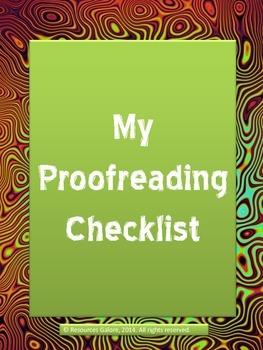 My Proofreading Checklist