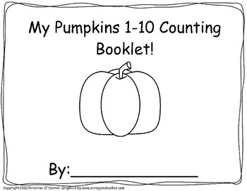My Pumpkin 1-10 Counting book: #word, tally, # line + more