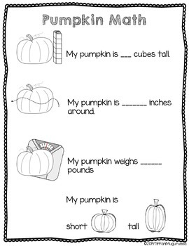 FREE pumpkin exploration science and math worksheet