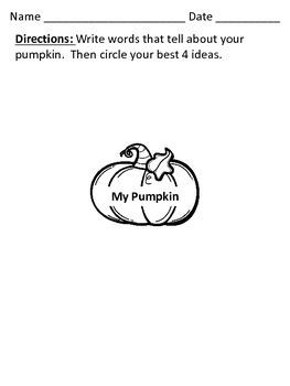 My Pumpkin Descriptive Writing Craftivity
