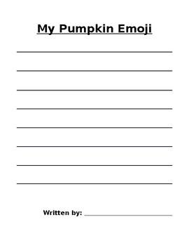 My Pumpkin Emoji Writing Activity