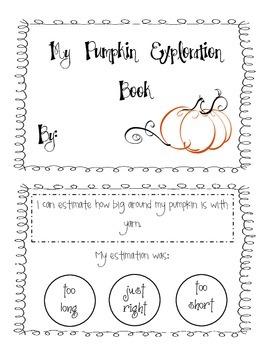 My Pumpkin Exploration Booklet