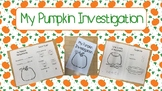My Pumpkin Investigation - Booklet