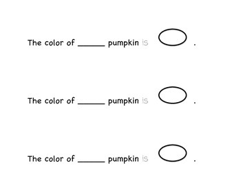 My Pumpkin Mini Book -  Individual Pumpkin Activity for Literacy Centers