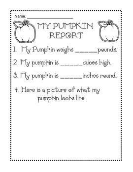 My Pumpkin Report