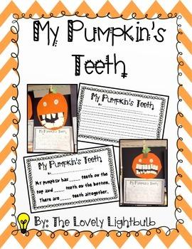 My Pumpkin's Teeth - Art & Math project printable