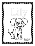 My Puppy's Resume Coloring Sheets