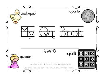 My QqBook {letter study & sight words she & he}