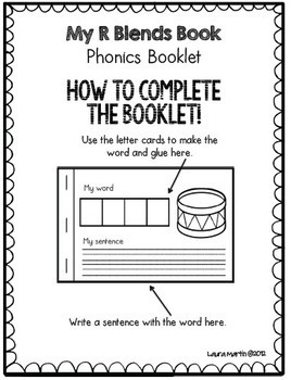 Interactive Phonics Booklet-R Blends