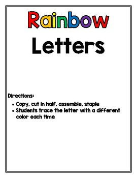 My Rainbow Letters Book