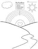 My Rainbow - Self-Esteem Worksheet PK-2