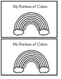 My Rainbow of Colors - Emergent Reader (B & W Version)