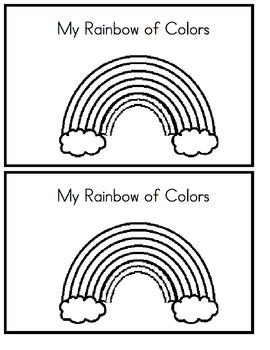 My Rainbow of Colors - Emergent Reader (B & W Version)