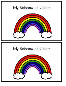 My Rainbow of Colors - Emergent Reader (colored version)