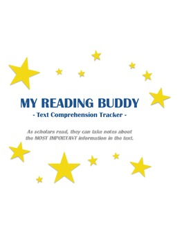 """""""My Reading Buddy"""" Text Comprehension Tracker"""